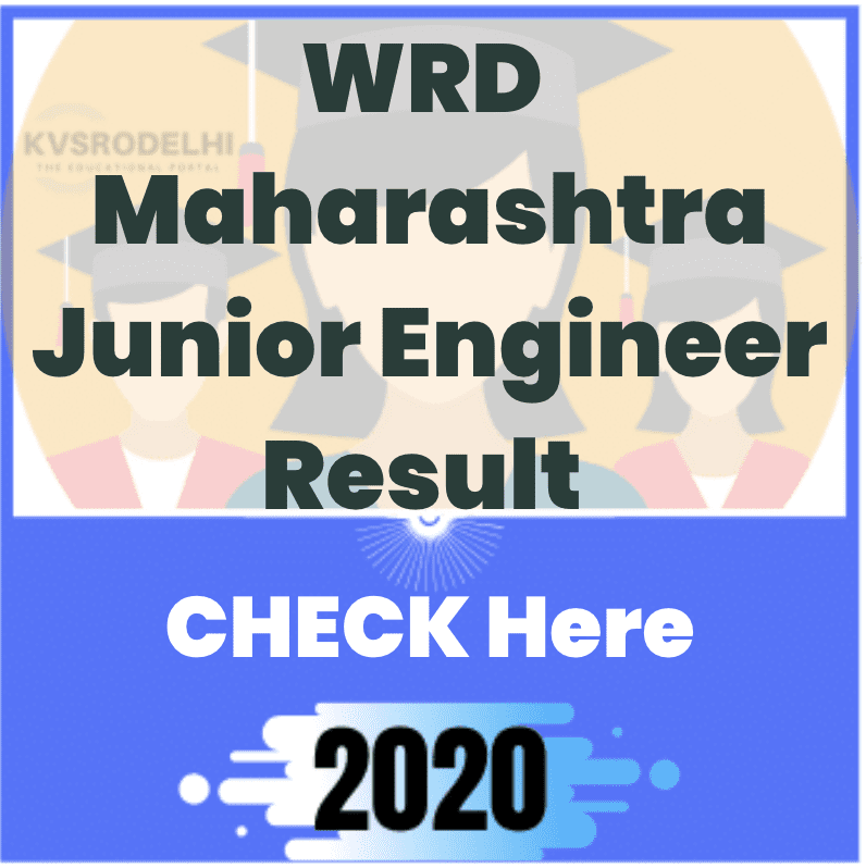 WRD Maharashtra Junior Engineer Result 2020, JE Grade B Cut Off, Merit List, WRD Maharashtra Junior Engineer Result 2020, WRD Maharashtra JE Grade B Result 2020, WRD Maharashtra JE Grade B Merit List 2020